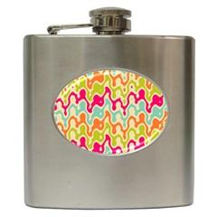 Abstract Pattern Colorful Wallpaper Hip Flask (6 Oz) by Simbadda
