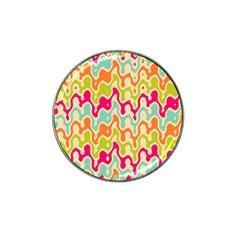 Abstract Pattern Colorful Wallpaper Hat Clip Ball Marker (10 Pack) by Simbadda