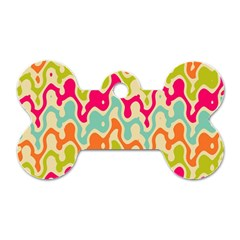 Abstract Pattern Colorful Wallpaper Dog Tag Bone (two Sides) by Simbadda