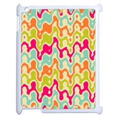 Abstract Pattern Colorful Wallpaper Apple Ipad 2 Case (white) by Simbadda