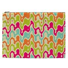 Abstract Pattern Colorful Wallpaper Cosmetic Bag (xxl)  by Simbadda