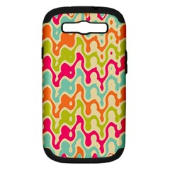 Abstract Pattern Colorful Wallpaper Samsung Galaxy S Iii Hardshell Case (pc+silicone) by Simbadda