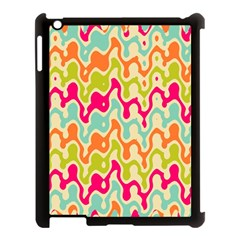 Abstract Pattern Colorful Wallpaper Apple Ipad 3/4 Case (black) by Simbadda