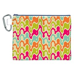 Abstract Pattern Colorful Wallpaper Canvas Cosmetic Bag (xxl) by Simbadda