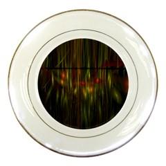 Fractal Rain Porcelain Plates by Simbadda