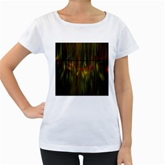 Fractal Rain Women s Loose Fit T Shirt (white) by Simbadda