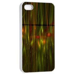 Fractal Rain Apple Iphone 4/4s Seamless Case (white) by Simbadda