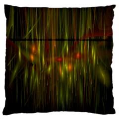 Fractal Rain Large Cushion Case (two Sides) by Simbadda