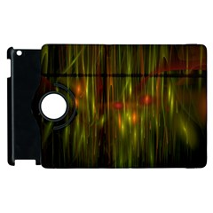 Fractal Rain Apple Ipad 2 Flip 360 Case by Simbadda