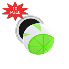 Fruit Lime Green 1 75  Magnets (10 Pack)  by Alisyart