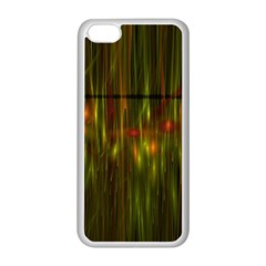Fractal Rain Apple Iphone 5c Seamless Case (white) by Simbadda