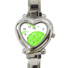 Fruit Lime Green Heart Italian Charm Watch by Alisyart