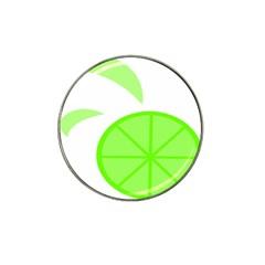 Fruit Lime Green Hat Clip Ball Marker (4 Pack) by Alisyart