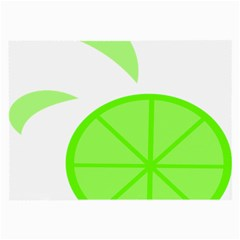 Fruit Lime Green Large Glasses Cloth (2 Side) by Alisyart
