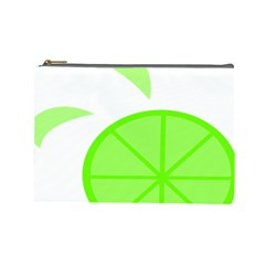 Fruit Lime Green Cosmetic Bag (large)  by Alisyart