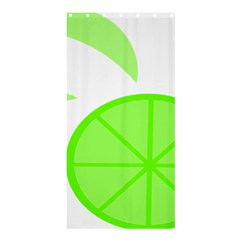 Fruit Lime Green Shower Curtain 36  X 72  (stall)  by Alisyart