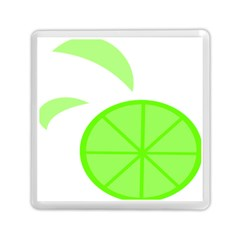 Fruit Lime Green Memory Card Reader (square)  by Alisyart