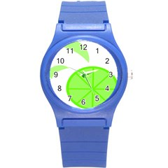 Fruit Lime Green Round Plastic Sport Watch (s) by Alisyart