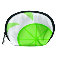 Fruit Lime Green Accessory Pouches (medium)  by Alisyart