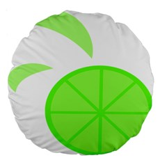 Fruit Lime Green Large 18  Premium Flano Round Cushions by Alisyart