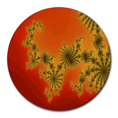 Decorative Fractal Spiral Round Mousepads by Simbadda