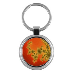 Decorative Fractal Spiral Key Chains (round)  by Simbadda