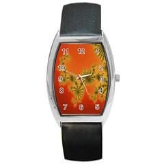 Decorative Fractal Spiral Barrel Style Metal Watch by Simbadda