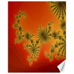 Decorative Fractal Spiral Canvas 11  X 14   by Simbadda