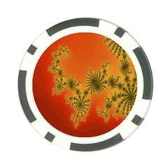 Decorative Fractal Spiral Poker Chip Card Guard by Simbadda