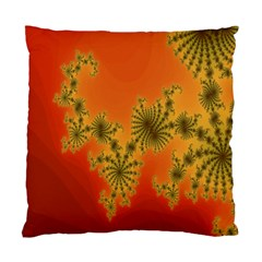 Decorative Fractal Spiral Standard Cushion Case (one Side) by Simbadda