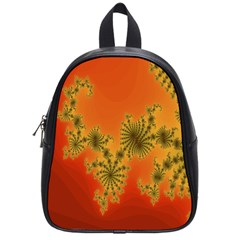 Decorative Fractal Spiral School Bags (small)  by Simbadda