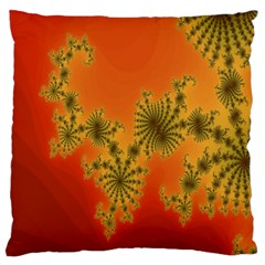 Decorative Fractal Spiral Large Cushion Case (one Side) by Simbadda
