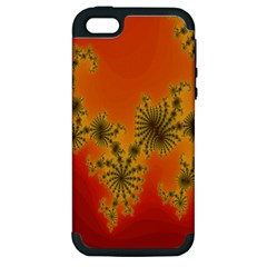 Decorative Fractal Spiral Apple Iphone 5 Hardshell Case (pc+silicone) by Simbadda