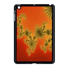 Decorative Fractal Spiral Apple Ipad Mini Case (black) by Simbadda