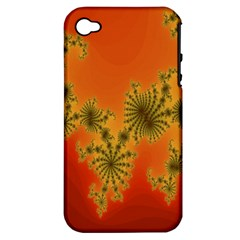 Decorative Fractal Spiral Apple Iphone 4/4s Hardshell Case (pc+silicone) by Simbadda