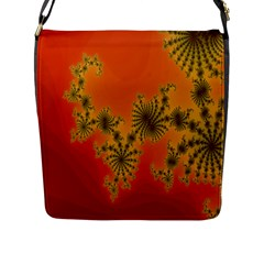 Decorative Fractal Spiral Flap Messenger Bag (l)  by Simbadda