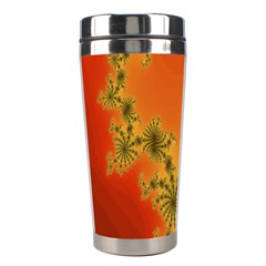 Decorative Fractal Spiral Stainless Steel Travel Tumblers by Simbadda