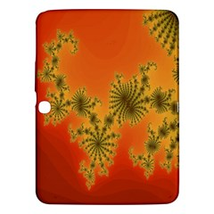 Decorative Fractal Spiral Samsung Galaxy Tab 3 (10 1 ) P5200 Hardshell Case  by Simbadda