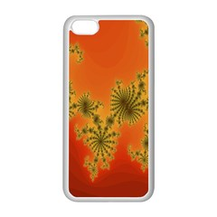 Decorative Fractal Spiral Apple Iphone 5c Seamless Case (white) by Simbadda