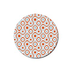 Pattern Background Abstract Rubber Coaster (round)  by Simbadda