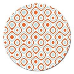 Pattern Background Abstract Magnet 5  (round) by Simbadda