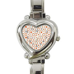 Pattern Background Abstract Heart Italian Charm Watch by Simbadda
