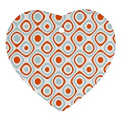 Pattern Background Abstract Heart Ornament (two Sides) by Simbadda