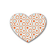 Pattern Background Abstract Rubber Coaster (heart)  by Simbadda