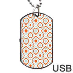 Pattern Background Abstract Dog Tag Usb Flash (one Side) by Simbadda