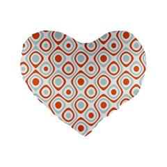 Pattern Background Abstract Standard 16  Premium Flano Heart Shape Cushions by Simbadda