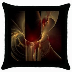 Fractal Image Throw Pillow Case (black) by Simbadda
