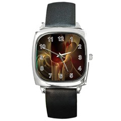 Fractal Image Square Metal Watch by Simbadda