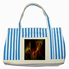Fractal Image Striped Blue Tote Bag by Simbadda