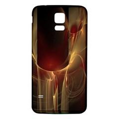 Fractal Image Samsung Galaxy S5 Back Case (white) by Simbadda